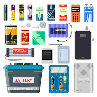 Lithium batteries set