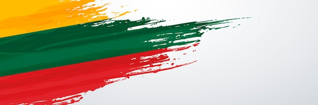 リトアニアのバナーフラグ Premiumベクター
