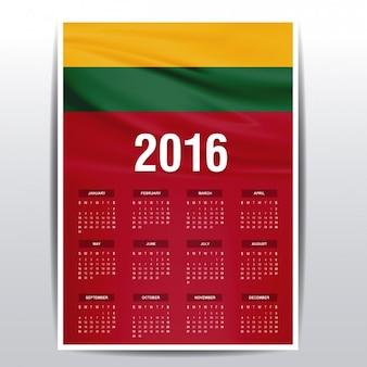 Lithuania calendar of 2016