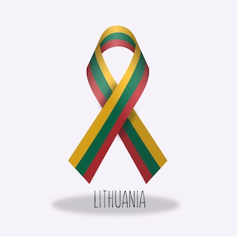 Lithuania flag ribbon design