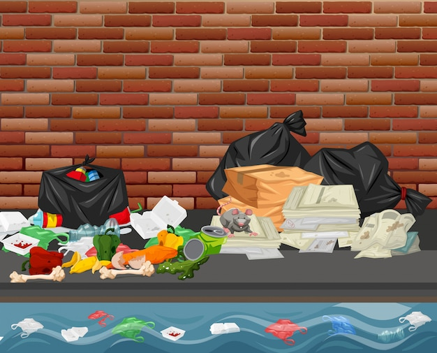 도시의 쓰레기