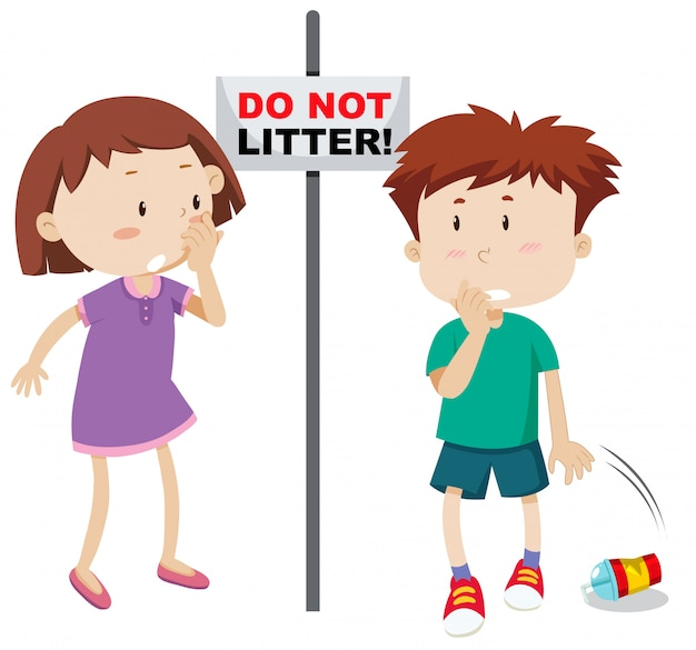 Do not litter scene