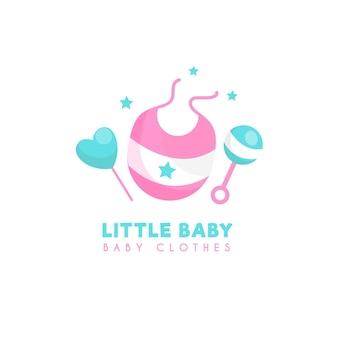 작은 아기 옷 로고 템플릿