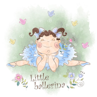 A little ballerina with birds