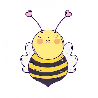 Little bee kawaii character