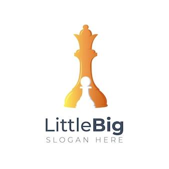 Little big chess logo design