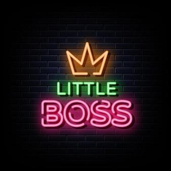 Маленький босс неоновые вывески