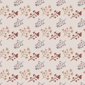 가지 완벽 한 패턴의 작은 식물 장식