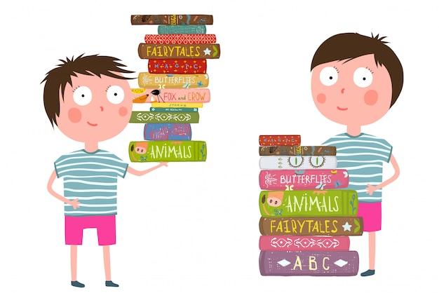 小さな男の子は本を読むのが大好き