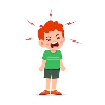 Маленький мальчик истерика и очень громко кричит