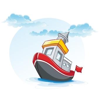船の小さな漫画イラスト