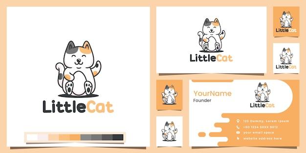 Маленькая кошка мультфильм версия логотипа вдохновение