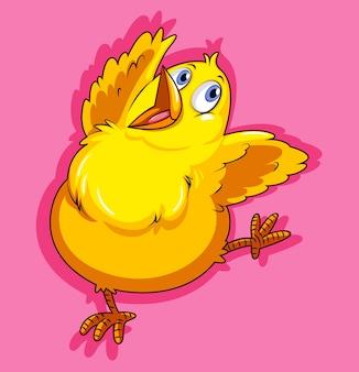 Маленькая курица на розовом