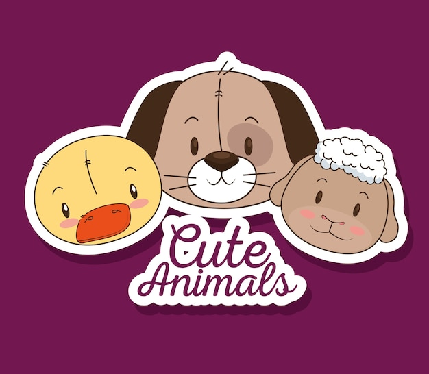 Little and cute animals group