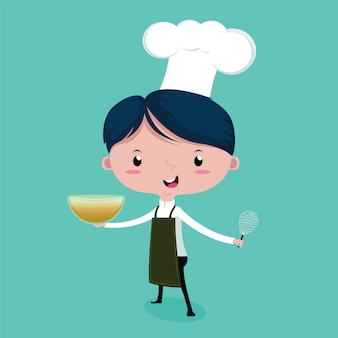 The little cute chef