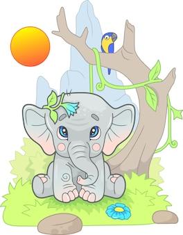 小さなかわいい象