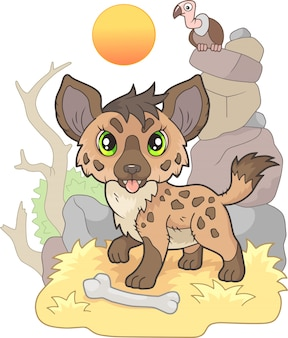 Little cute hyena