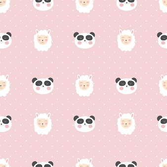 Little cute panda seamless pattern for card and shirt design.
