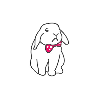작고 귀여운 토끼 마스코트