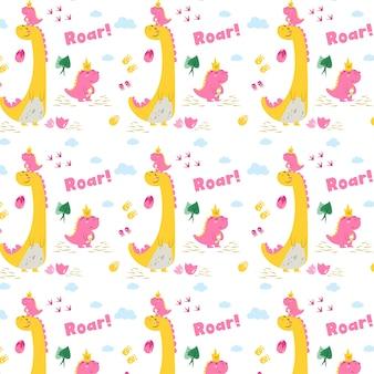 Little dinosaur pattern  girl