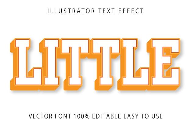 Little  editable text effect