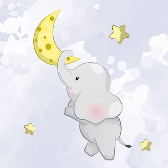 Little elephant on the moon