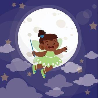 Little fairy princess vector illustration