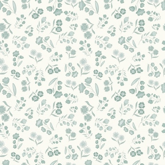 Little flowers vector pattern, seamless vector pattern delicate and clean