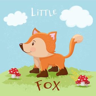 Little fox background