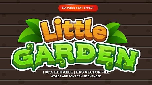 작은 정원 편집 가능한 텍스트 효과 만화 만화 게임 스타일