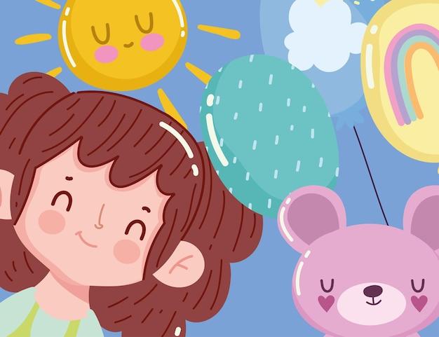 어린 소녀와 곰