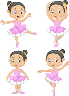 Little girl ballet dancer collection set