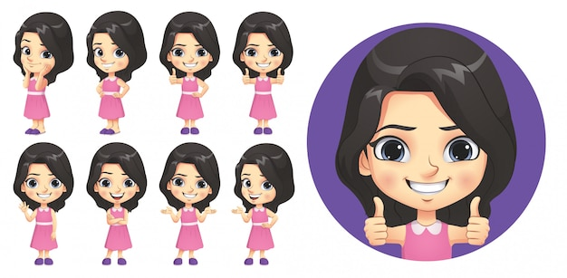 Little girl character set