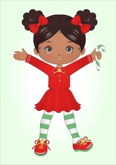 小さな女の子のクリスマスクリップアート