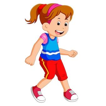 Little girl dancing alone