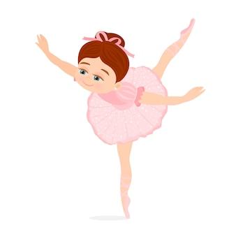 Little girl dancing ballet