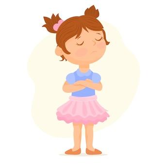 Little girl upset and angry