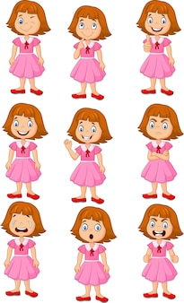 Little girl in various expression
