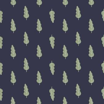 小さな緑の葉のシームレスなパターン。