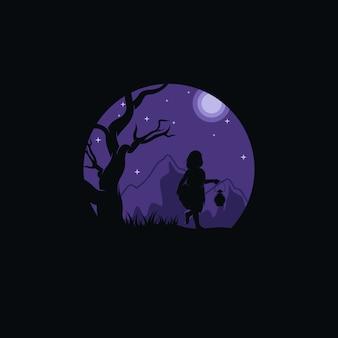 Маленький детский приключенческий логотип
