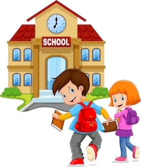 Little kids go to school