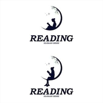 Little kids reach dreams logo with moon symbol