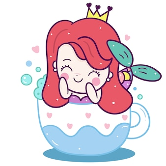 Little mermaid  in cup