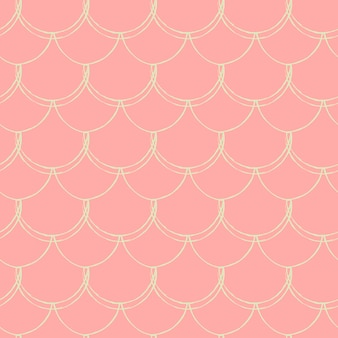 인어 공주 완벽 한 패턴입니다. 물고기 피부 질감. 소녀 직물, 섬유 디자인, 포장지, 수영복 또는 벽지를 위한 경작 가능한 배경. 물고기 규모와 파란색 작은 인어 배경.