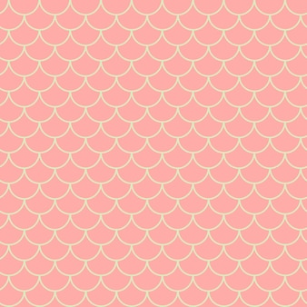 リトルマーメイドのシームレスなパターン。魚の皮の質感。耕作可能な背景