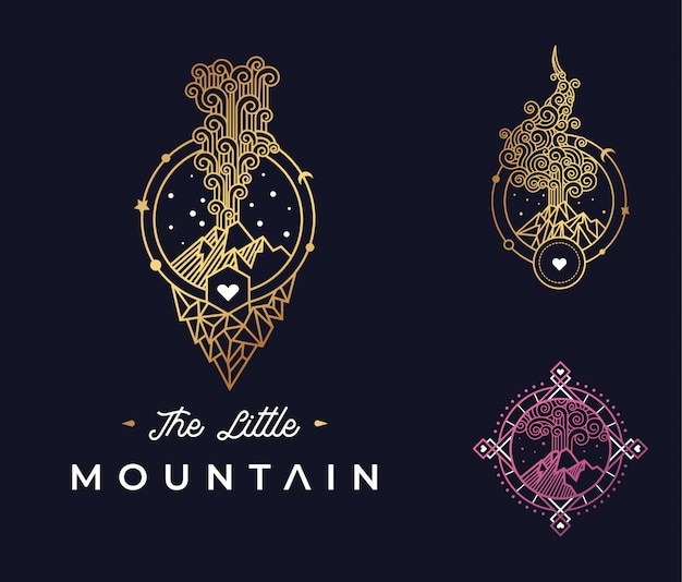 The little mountain logo design