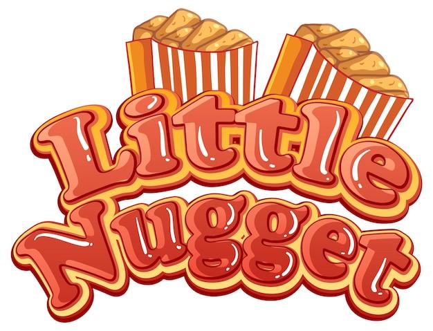 Дизайн текста логотипа little nugget