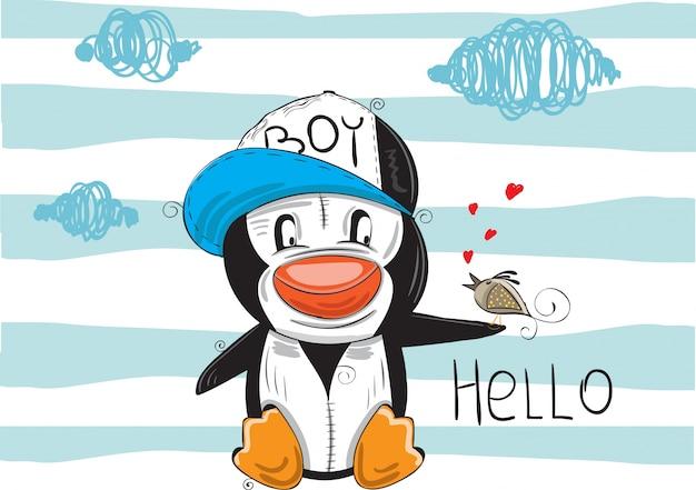 小さなペンギン、おしゃれな保育園の芸術