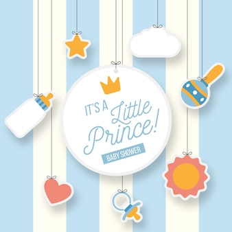 Little prince boy baby shower