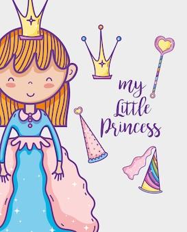 Маленькая принцесса милая рука рисовать мультфильм